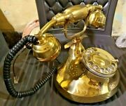 Antique / Vintage Collectibles Brass Telephones Rotary Dial Stylish Replica