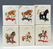 Hallmark Ornaments A Pony For Christmas 2006-2010 Lot Of 6 Mint In Boxes