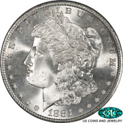 1881-s Morgan Silver Dollar Pcgs And Cac Ms67+ Pq+ White Coin