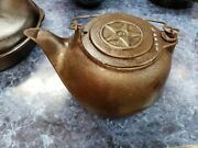 Rare Antique And Vintage Cast Iron 1870and039s 8 Kettle
