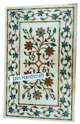 3and039x2and039 Marble Table Top Coffee Center Side Antique Inlay Home Pietra Dura W21