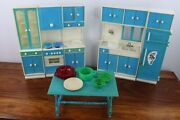 Mcm Vintage 1960's Galba Galletti Dollhouse Doll Furniture - Made In Italy
