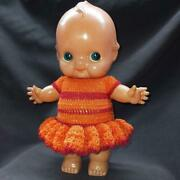 Big Vintage Kewpie Celluloid Doll Toy Baby Dress Showa Cute Rare Made In Japan