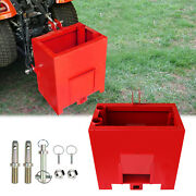 3 Point Ballast Box Red Category 1 Tractor Loader Counterweight Attachment