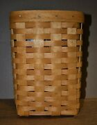 Longaberger 11258 Mini Waste Basket, Woven Wood With Inside Protector, Brand New