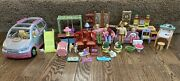 Lot Of 39 Pieces Loving Family Dollhouse Suv Van 5 People Furniture Accessories