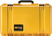 Pelican Storm Im2500 Rigid Case With Pull Out Handle And Wheels Yellow -free Ship-