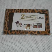 Large Leopard Print Z Palette Magnetic Cosmetic Case Holder New