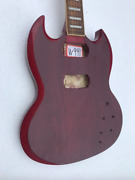 Red Double Cutaway Guitar Body With Neck Fit Sg Guitars