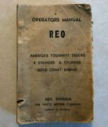 1961 Reo Truck 8 And 6 Cylinder Owners Operators Manual Original White Motor Co