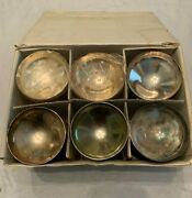 6 Champagne Goblets Glasses Cup Wine Chalice Silverplate Plator Made In Spain