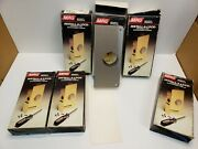 Lot Of 6 New Mag Security Install-a-lock 2-s Satin Steel Finish For 1-3/4 Doors