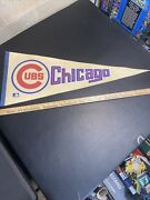 Chicago Cubs Vintage Mlb Baseball Pennant Full Size 30 Inches