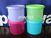 Tupperware Mini Canister Food Container 2 Cup / 500ml Set Of 4 Colors New