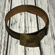 Vintage Confederate Infantry Cs Solid Brass Belt Buckle Reproduction Sz 30andrdquo