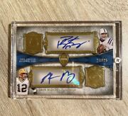 2011 Topps Supreme Dual Auto Autograph Peyton Manning And Aaron Rodgers /25