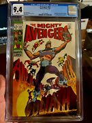 Avengers 63 Cgc 9.4 White Pages Hawkeye Becomes Goliath