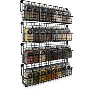 Farmhouse Hanging Spice Racks For Wall Mount - Easy To Install Set Of 4 Space