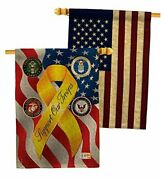 Support Troops Freedom Burlap House Flag Pack Armed Forces Service All