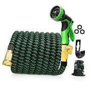 Upgraded Expandable Garden Hose 100 Ft 3/4 Solid Brass Connectors 10 100 Ft