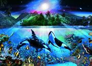 3000 Pieces Jigsaw Puzzle Ultimate Master Of Puzzles Harmonious Orcas Ii.