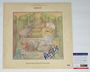 Peter Gabriel Signed Genesis Selling England By The Pound Record Psa Coa Ad48371