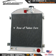 4 Rows Aluminum Radiator For 1933-1934 Ford Grill Shells Chopped Andchevy Engine