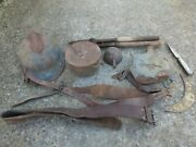 Ww1 Semi Relic Lot French Helmet Canteen Belt Y Strap Trench Cutter Mess Kit