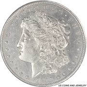 1895-s Morgan Silver Dollar Circulated Extremely Fine To Almost Uncirculated