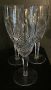 """Vintage3waterford Crystalcolleentall Champagne Flute Glasses7.38"""""""