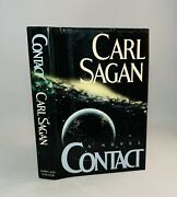 Contact-carl Sagan-signed-inscribed-true First Edition/1st Printing-very Rare