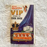 1964 King Quality's Vip Stand-up Cookbook/recipes By St. Louis Dairy