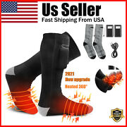 Electric Heated Socks Rechargeable Battery Winter Thermal Warm Skiing Hunting