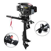 6 Hp 4 Cycle 4 Stroke Outboard Motor Boat Engine Air Cooling Electronic Ignition