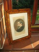Charles Dickens Original C.1860and039s Autograph And Antique Signed Art Print Portrait