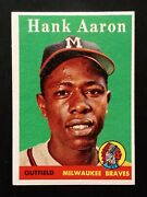 1958 Topps Hank Aaron 30 White Letters Nm+