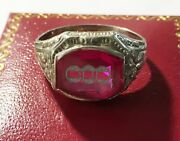 Vintage 10k Odd Fellow Ring, Synthetic Stone