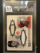 Gem Mint Mickey Mantle And Ken Griffey Jr. 2001 Ud Sp Dual Jersey Graded Hga 9.5
