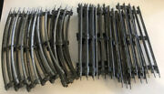 Lionel Model Railway O54 Curved And Straight Tubular Metal Track Train- Lot Of 21