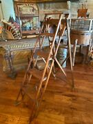 Rare And Gorgeous Antique Hatherley General Store Ladder- Circa 1880