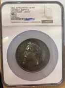 Ngc Ms62 France 1866 Date Empire Napoleon Emperor Ponscarme Silver Medal 153.8g