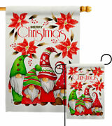Christmas Gnome Family Garden Flag Decorative Small Gift Yard House Banner