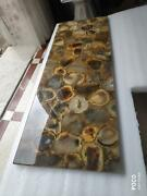 4and039x2and039 Marble Table Top Center Coffee Inlay Agate Antique Stone Home Decor W11
