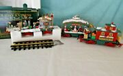 New Bright Holiday Express Water Tanker Skating Candy Dancer And Santaand039s Caboose