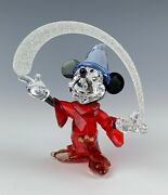 Crystal Rare Disney Sorcerer Mickey Mouse 2014 Mint In Original Box