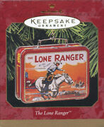 1997 Hallmark The Lone Ranger Christmas Ornament Miniature Lunch Box And Thermos