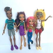 Monster High Dolls Pack Of Trouble Dolls Lot Clawd Clawdia Clawdeen Howleen Euc