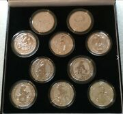 10 X 2oz Queens Beasts Royal Mint Silver Bullion Coin Full Investment Set.