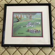 Looney Tunes Par For The Course Golf Cel W/ Bugs Bunny And Daffy Duck Signed