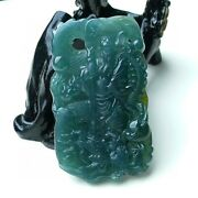 Gorgeous Guan Gonganddragon Icy Blue Water Jadeite Jade Pendant《grade A》certified